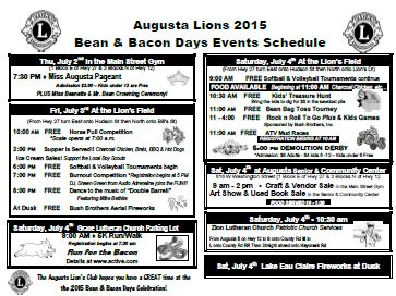 2015 Bean and Bacon Days Mailer