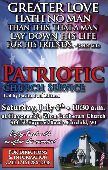 Independence Day Patriotic Church Service