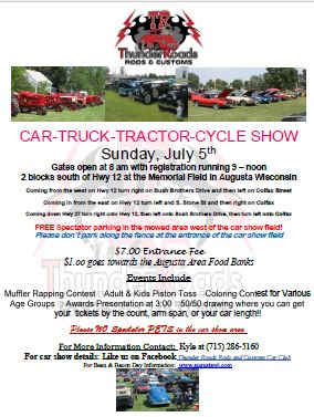 Wisconsin Car Show 2015 at Bean and Bacon Days