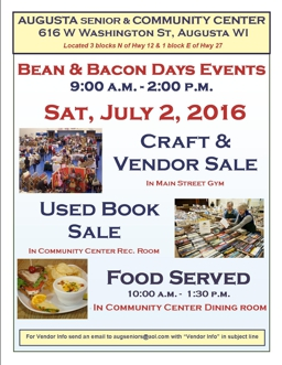Bean and Bacon Days 2016 Craft Sale