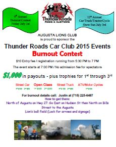 Augusta Wisconsin Burnout 2016 Printable PDF