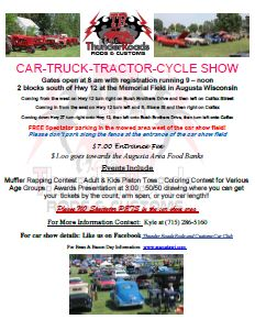 Augusta Wisconsin Car Show 2016 Printable PDF