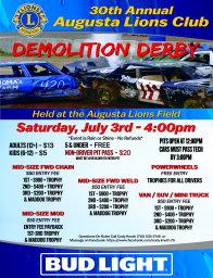 Demoition Derby in Augusta Wisconsin 2021 July 3rd