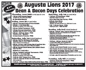 2018 Bean and Bacon Days Community mailing