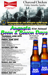 Official Bean and Bacon Days 2018 Poster