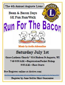 2018 Run for the Bacon at Bean and Bacon Days