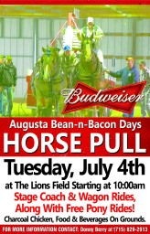2018 Horse Pull at Bean and Bacon Days