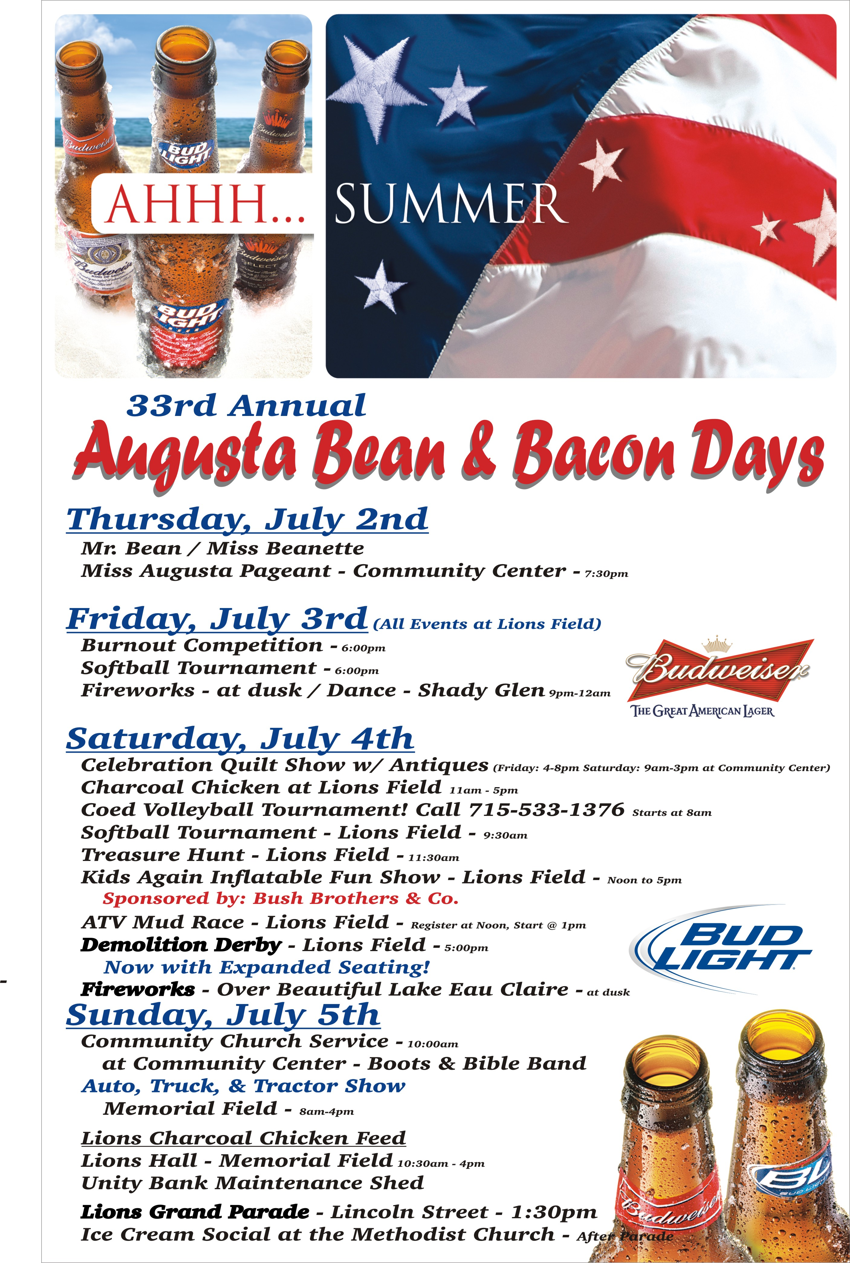 Augusta Wisconsin Beans and Bacon Days 2009 Adv