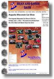 Augusta Wisconsin Bean And Bacon Days Web Site