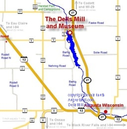 Local Augusta Map of the Dells Mill Vicinity