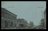 Stone Street Augusta Wisconsin 1910 Post Card