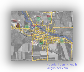 Geographic Street Map of Augusta Wisconsin