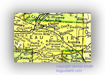 Eau Claire County Map in 1895