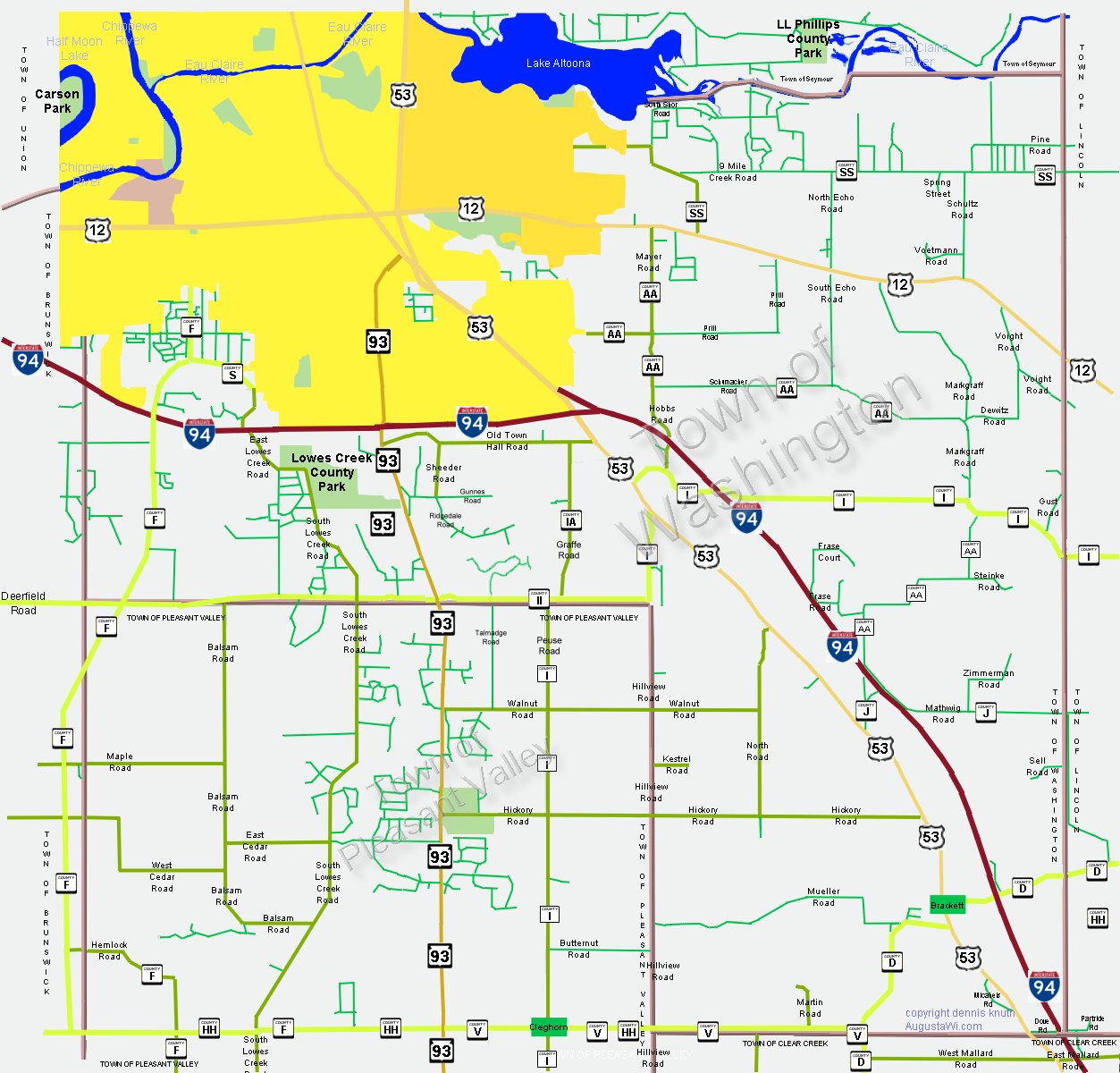 Picture of: Washington Township Map In Eau Claire County