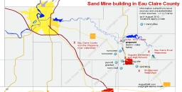 Eau Claire County Sand Mine Map